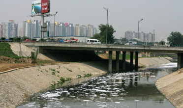 Industrial waste water leaks into the Bei Xiaohe River on June 25, 2007 in Beijing, China. The country ranks 100th for ecological modernization, the same as in 2004, on a list of 118 developing and developed countries, according to the Modernization Report 2007 released by the Chinese Academy of Science.  (Photo: Guang Niu/Getty Images)