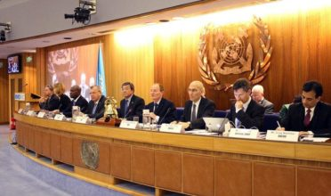 Executive panel at the International Maritime Organization (IMO). The council imposes regulation for ships and seafarers engaged in global trade in the aftermath of World War II. (Photo: The Maritime Executive)