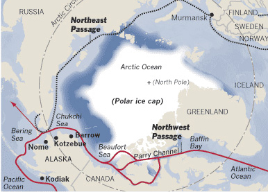 The Northeast Passage and the Northern Shipping Route.