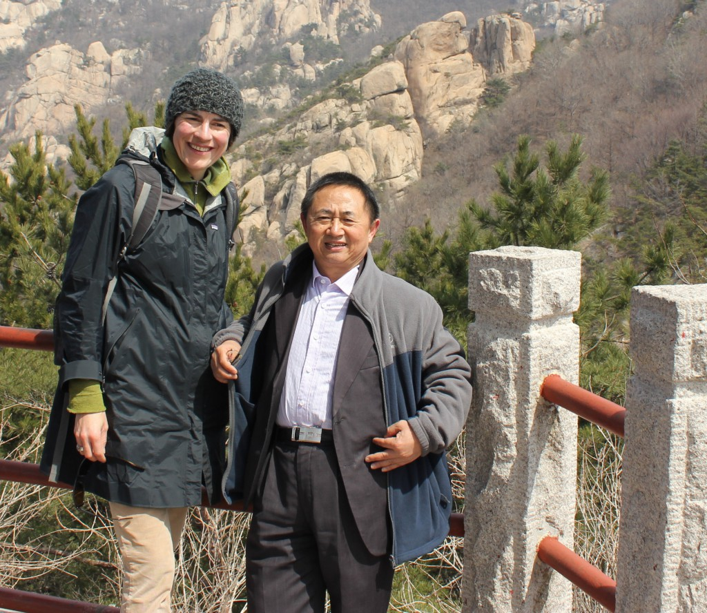 This is me with Wang Canfa, founder and leader of Center for Legal Assistance to Pollution Victims, the first organization to provide legal aid to people and communities injured by pollution throughout China.